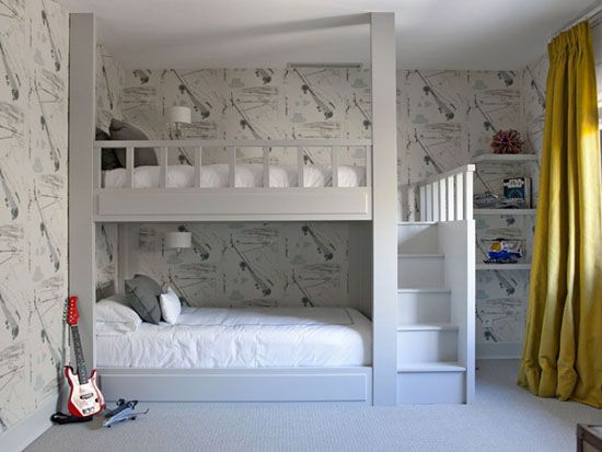Camerette idee ~ Sweet and spicy bacon wrapped chicken tenders bunk bed kids rooms