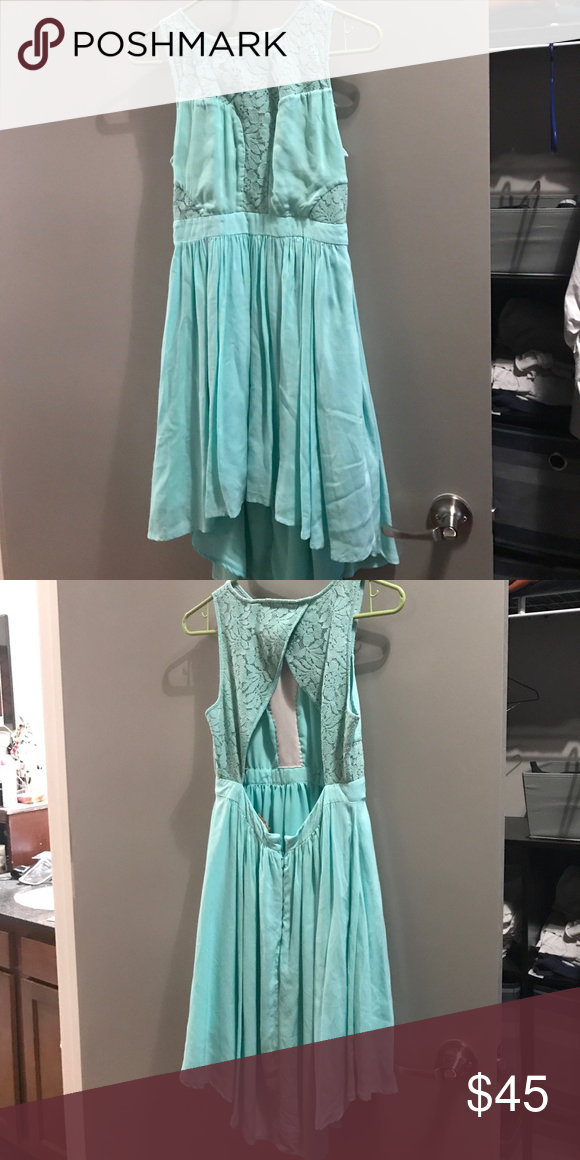 Bcbgeneration Mint High Low Tail Dress Euc Green We Did