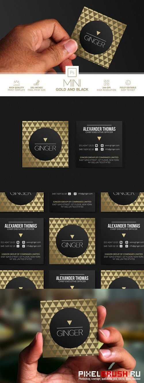Mini Gold And Black Business Card - 864806   Business Cards ...