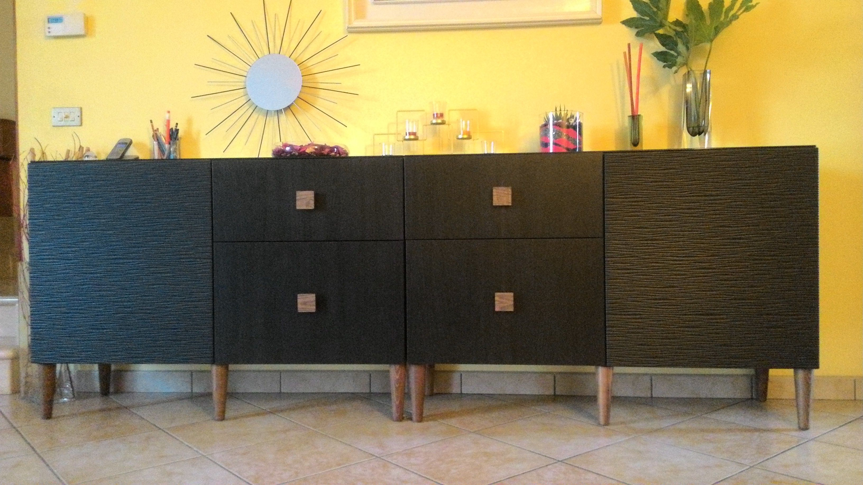 Credenza Ikea Nera : My ikea besta restyling inspired to a west elm buffet il mio