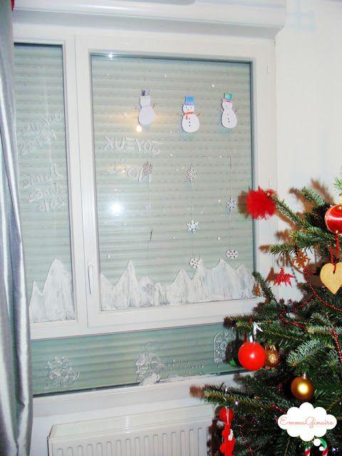Acitivé pour les enfants: décoration des fenêtres avec du blanc de Meudon - EmmaGinaire