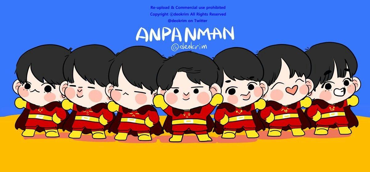Bts Anpanman V Drawing