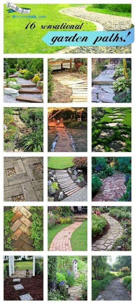 Photo of 46 Ideas Garden Path Cheap Flower Beds