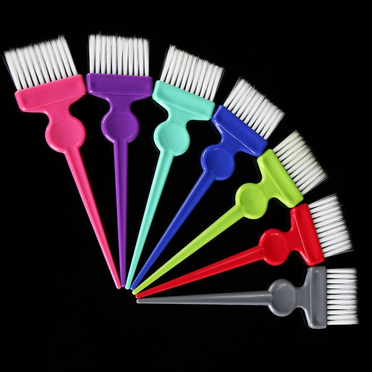 1 pcs multicolor hair dye mewarnai sikat sisir tukang cukur salon tint hairdressing mewarnai sisir dengan