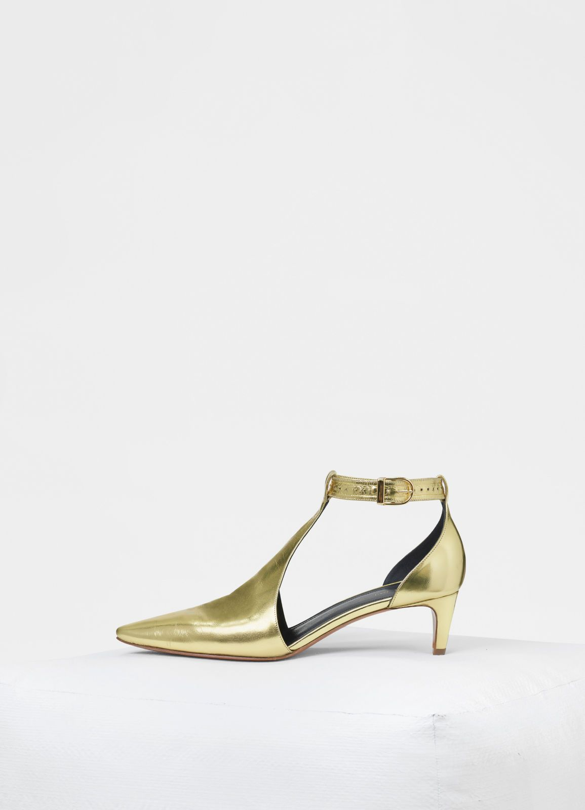 Kitten Heel Salome In Laminated Nappa Lambskin Celine Heels Kitten Heels Celine Shoes