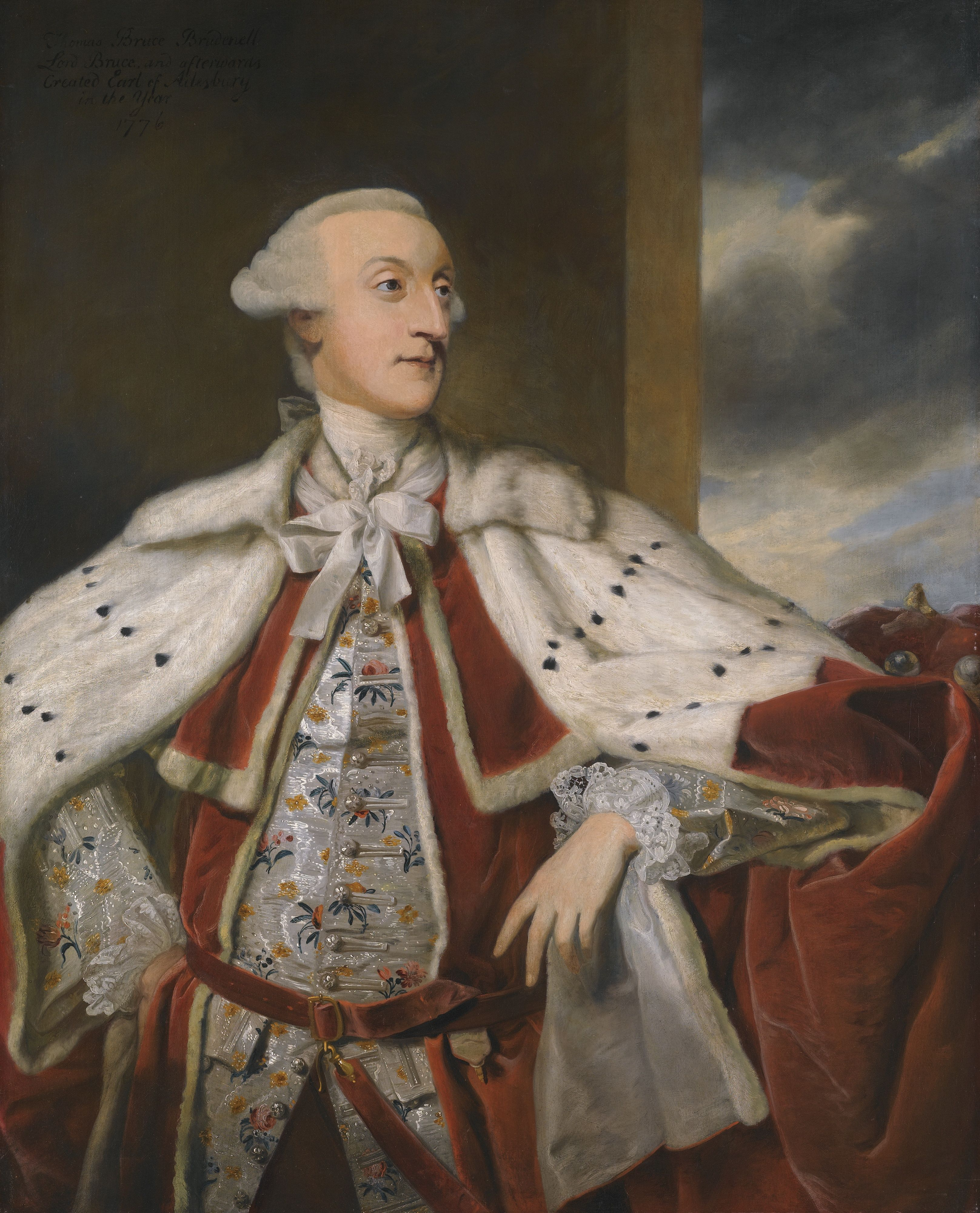 Joshua Reynolds - Thomas Bruce Brudenell-Bruce, later 1st Earl of Ailesbury in Peer's Robes 1776
