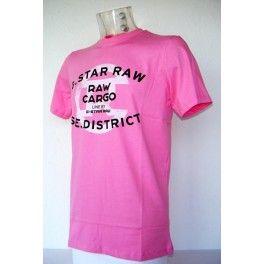 Camiseta G-star Raw Rosa