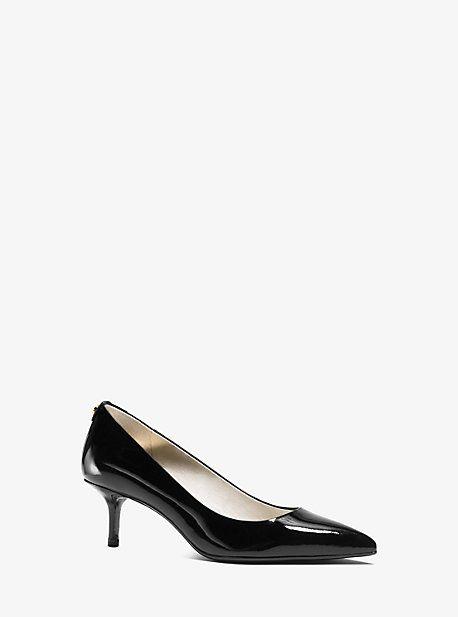 Flex Patent Leather Kitten Heel Pump Michael Kors Kitten Heel Pumps Black Pumps Heels Pumps Heels