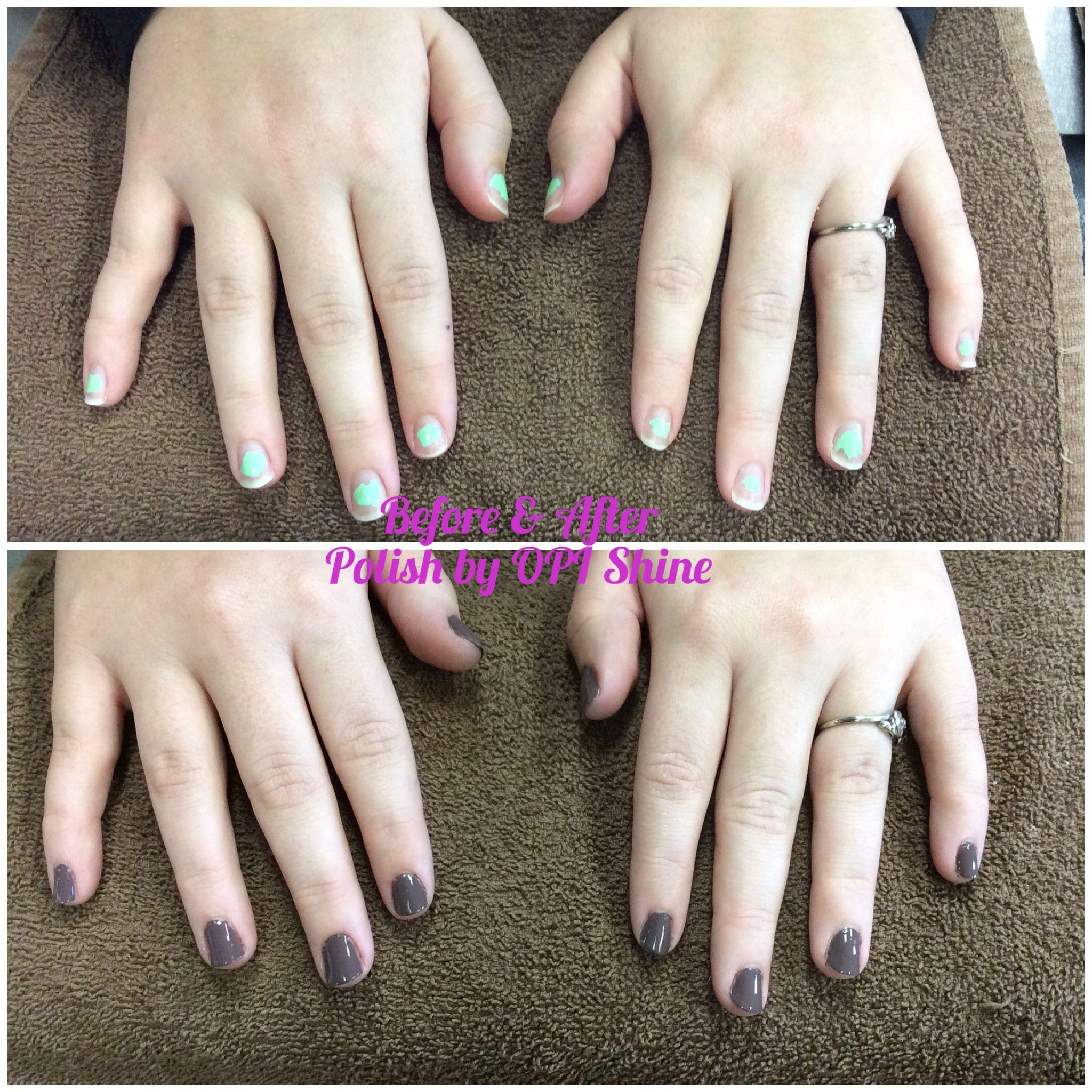 Manicure using opi shine oct nail care pinterest nail