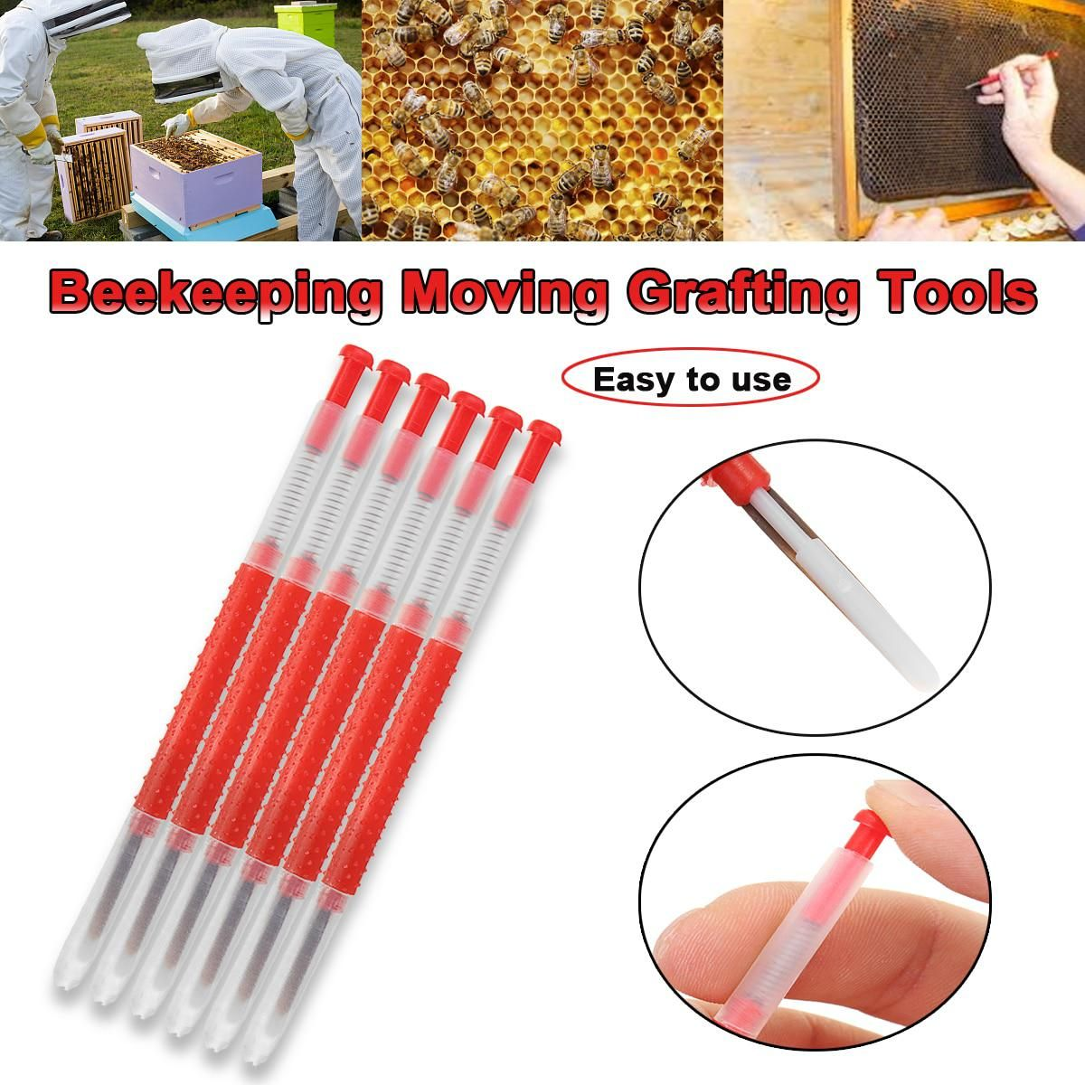 5pcs Beekeepers Tools for Beekeepers Grafting Tools Rearing Bee keeping
