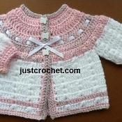 FJC08-Prem Cardi baby crochet pattern - via @Craftsy (free pattern)