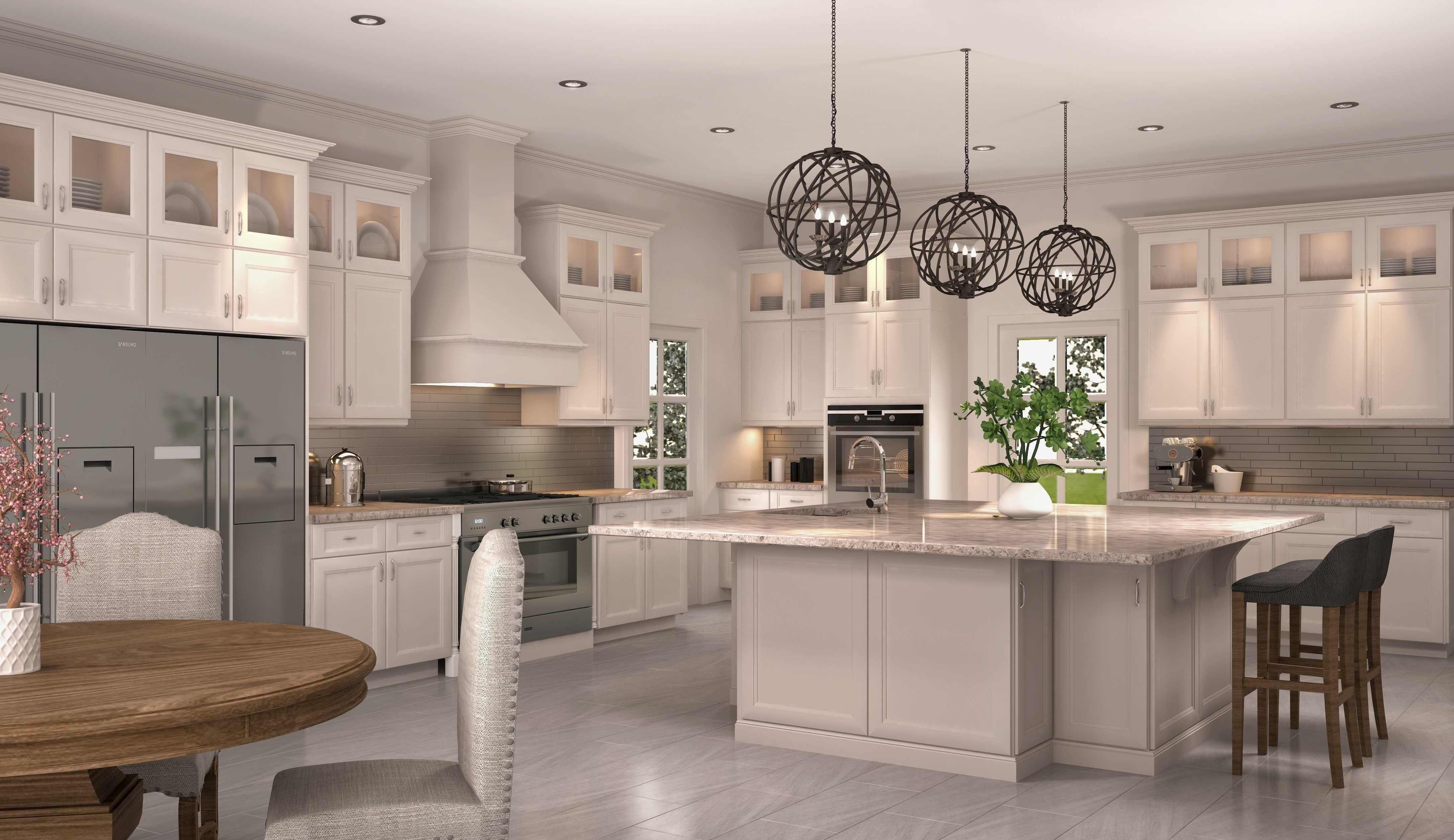 Kitchen Decor | Grey laminate flooring kitchen, Kitchen ...