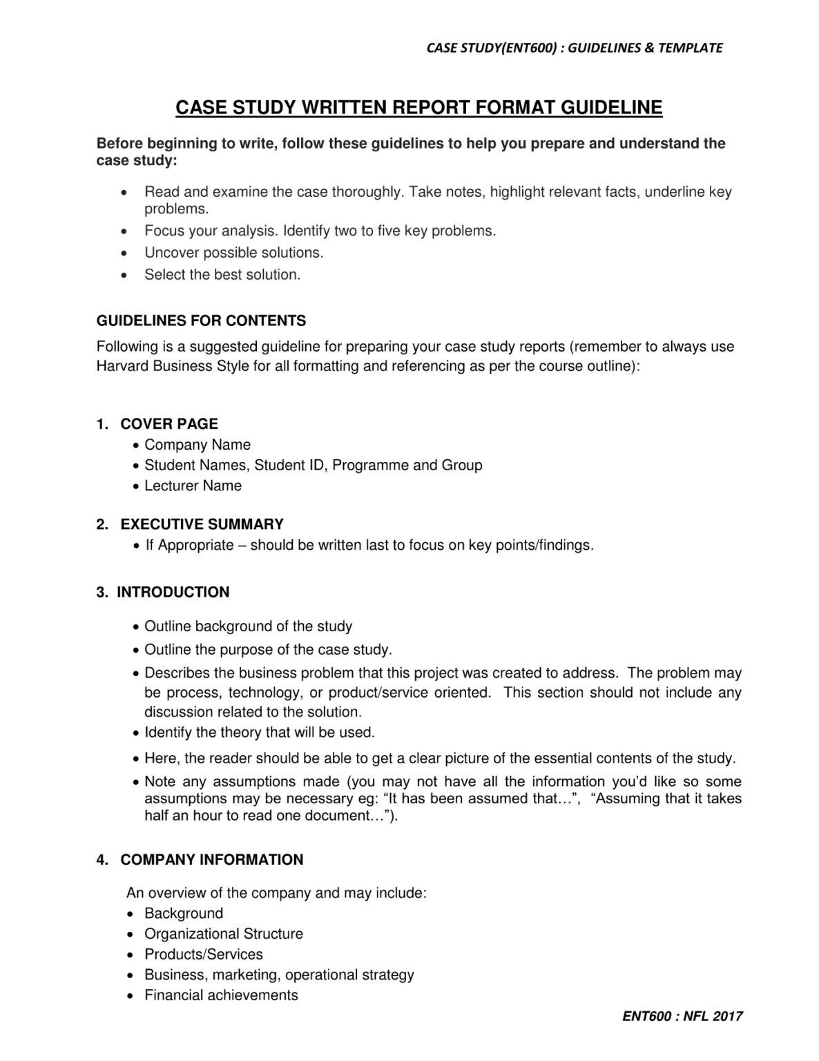 Ent600 Case Study Guidelines Amp Template Pages 1
