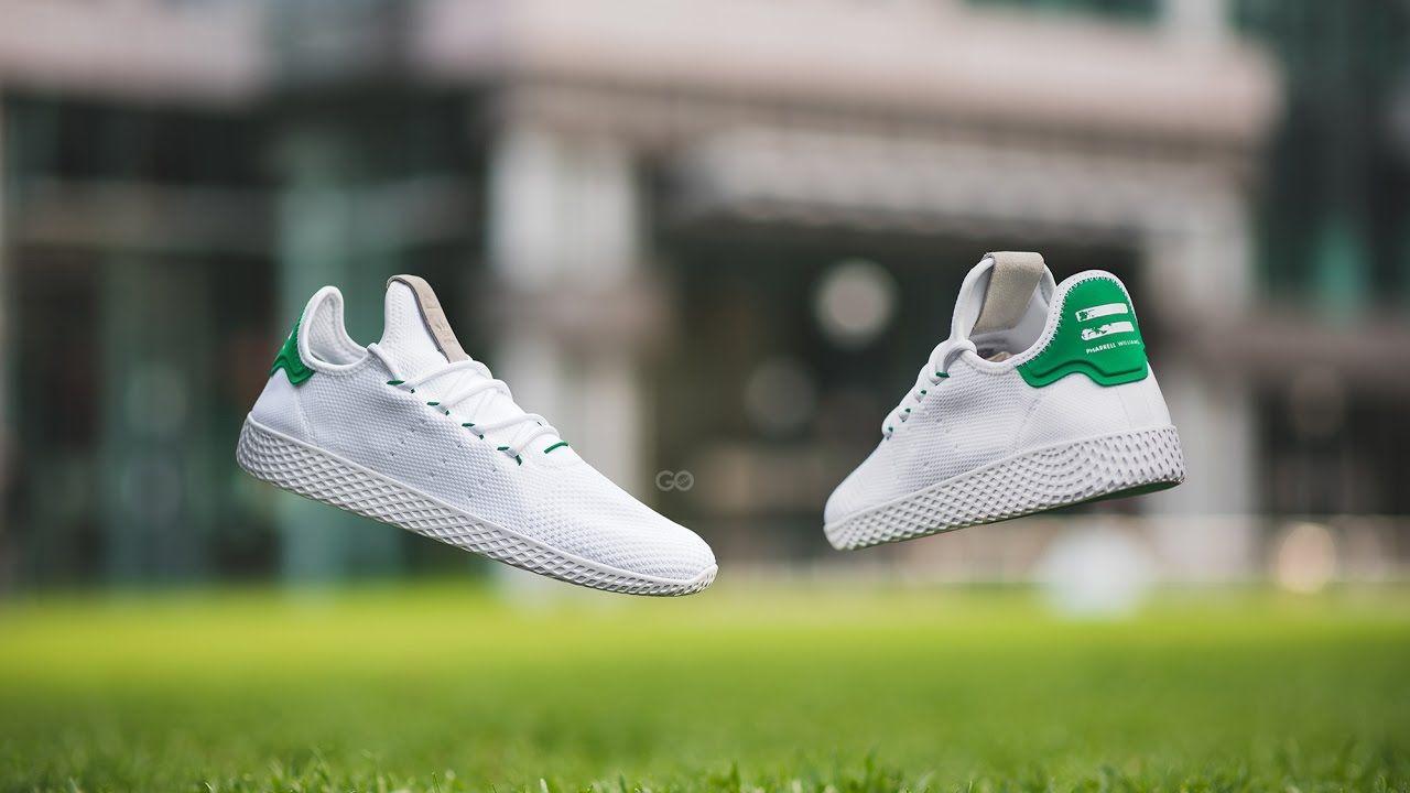 "best service 9e25b ee8ff Review  On-Feet Adidas x Pharrell Williams Tennis Hu ""Green"" Feels"