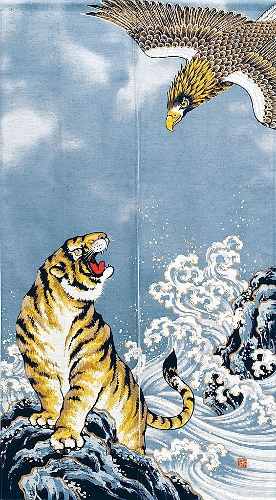 Japanese Tiger Art wallpaper, Japanese art