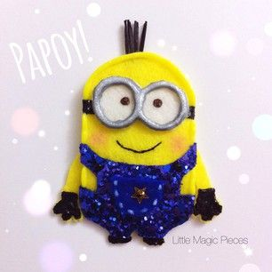 Papoy Despicable Me Minion Inspired Hair Clip - Dovile @littlemagicpieces Instagram photos   Websta (Webstagram)