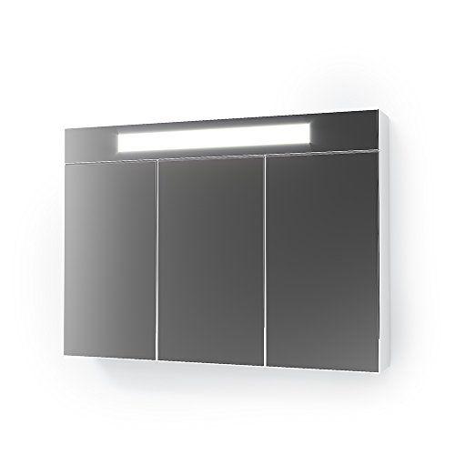 Vicco 3D LED Spiegelschrank Wei Badschrank Badspiegel Badezimmerspiegel
