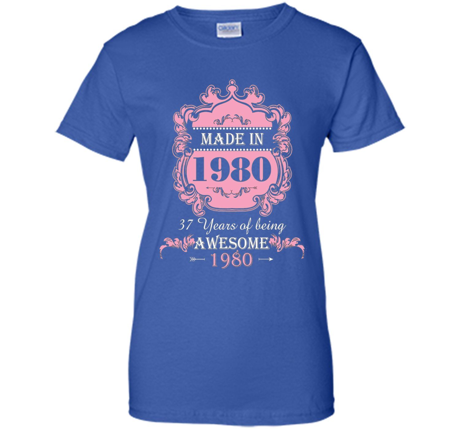 Made In 1980 T Shirt- 37 Years Old Shirt 37th Birthday Gift