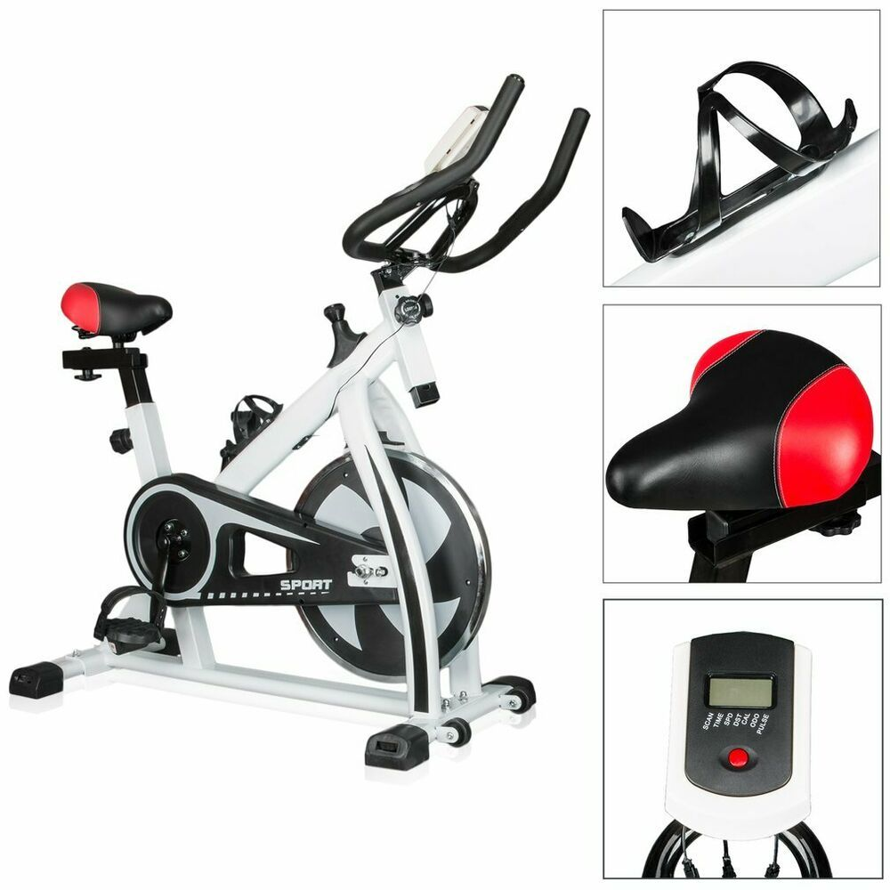 Bicycle Cycling Fitness Gym Exercise Stationary Bike Cardio Workout Indoor 35lbs #health #fitness #w...
