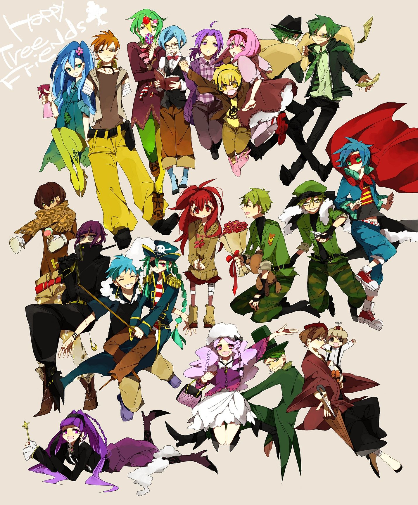 X And Y Anime Characters : Happy tree friends all characters anime imgkid