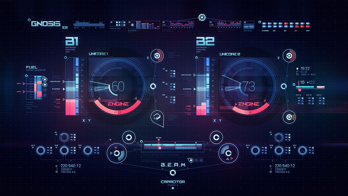 Space ship virtual interface Gnosis on Behance #userinterface