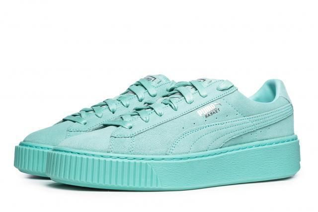 Details about New WOMENS PUMA BLUE SUEDE HEART RESET