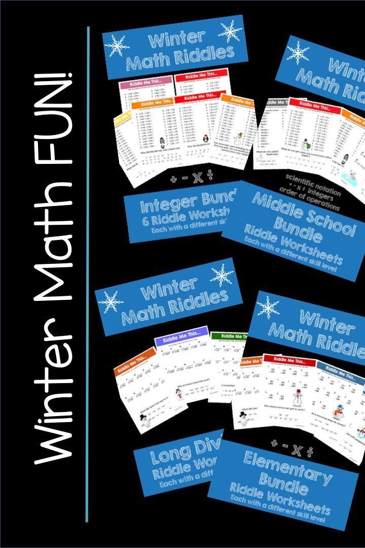 Make math FUN this Winter! Fun math, Math riddles, Math