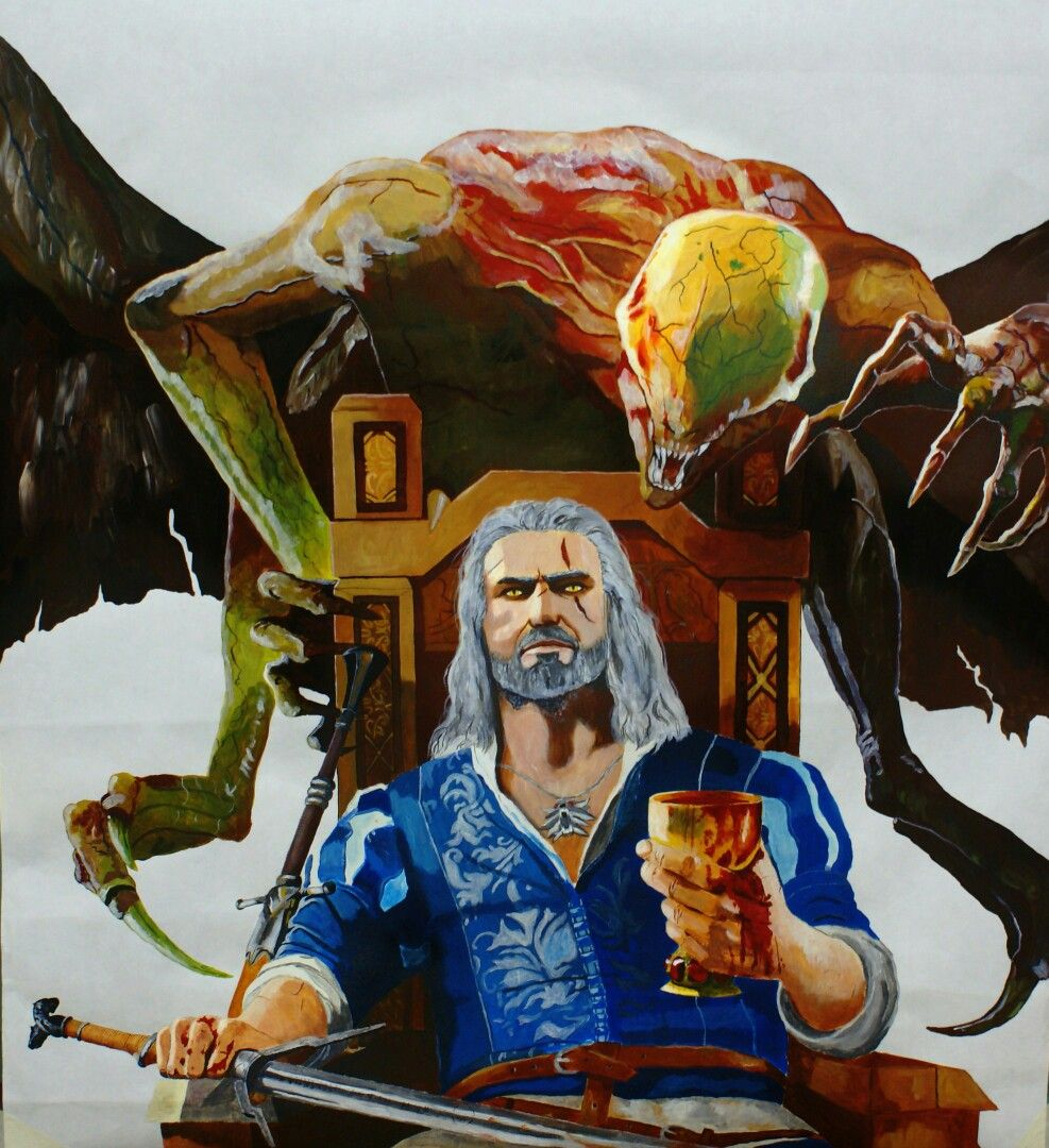 The Witcher Blood and Wine.Acrylic