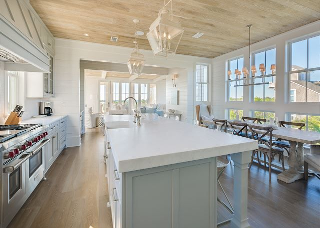 Second Floor Kitchen Modern Kitchen Building A New Home Beach House Design