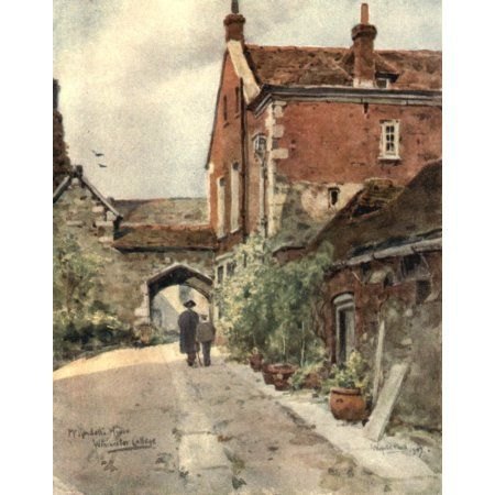 Winchester 1910 Second Masters house Winchester College Canvas Art - Wilfrid Ball (18 x 24)