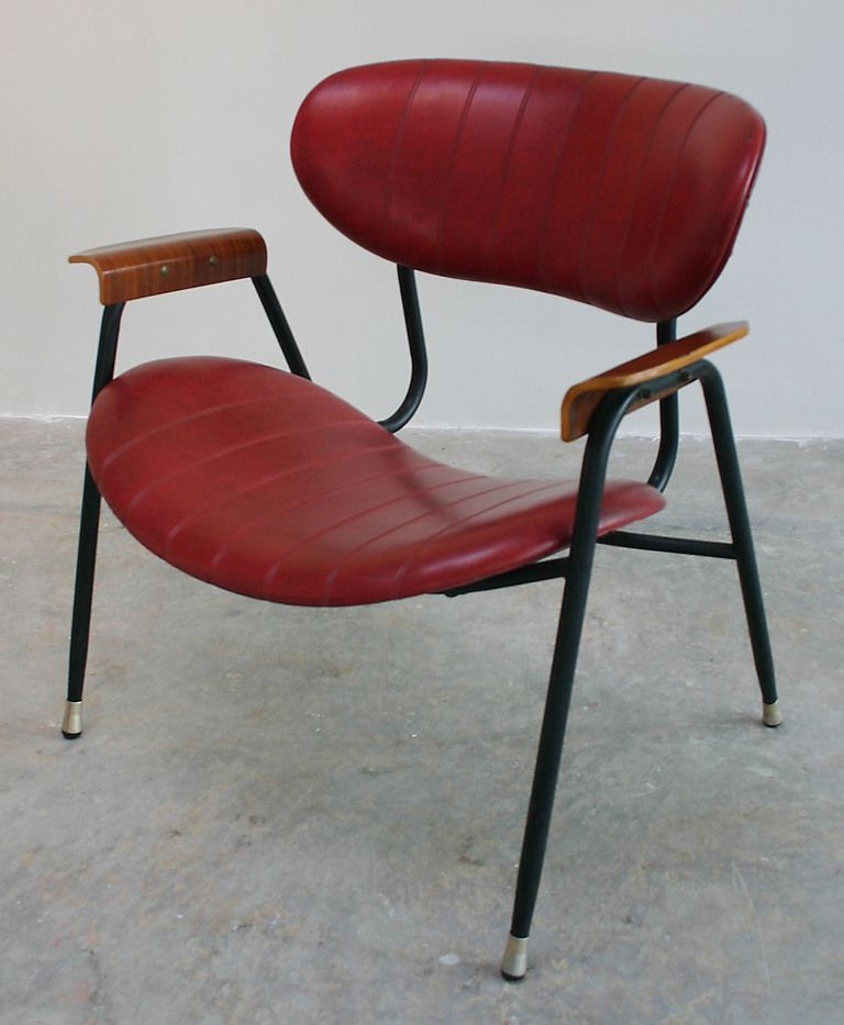 Nice Gastone Rinaldi; Painted Metal And Bentwood Armchair For Rima, C1950.