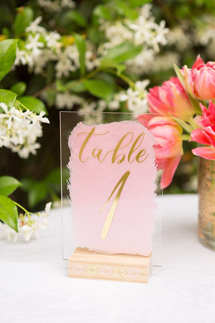 DIY Acrylic Table Numbers With Cricut And Martha Stewart ...