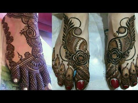 Mehndi Bunch On Arm : New mehndi design for legs foot youtube