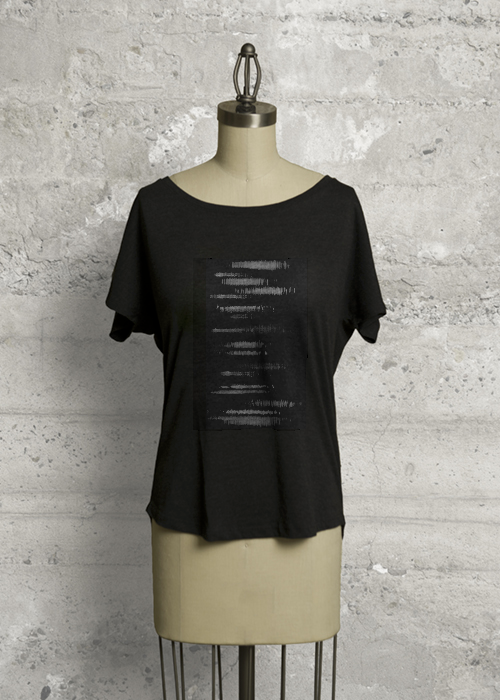 Outlet Affordable Boatneck Boyfriend Tee - Abstract Thought by VIDA VIDA New Release Pay With Paypal Cheap Online VmubP1HS