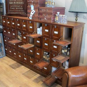Exceptional French Apothecary Cabinet | | Quintessential DuckeggBLUEquintessential  DuckeggBLUE