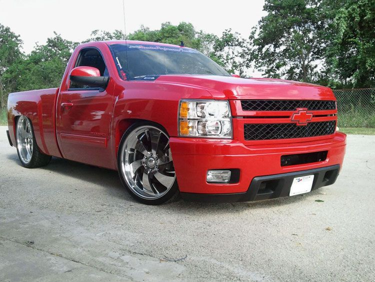 Uncomplicated Performance Upgrades For Chevrolet Silverado 1500 Pickup Trucks Chevy Dropped Trucks Single Cab Trucks
