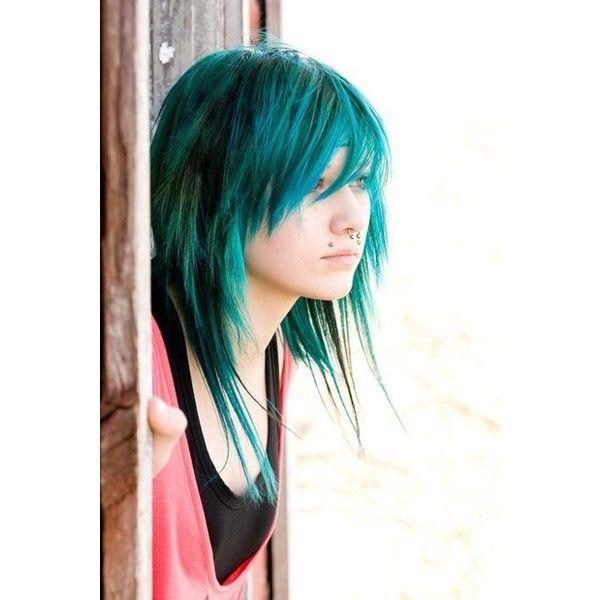 blue hair scene beautiful teal