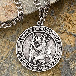 St christopher mens engraved pendant saint christopher and gift engraved st christopher pendant for men 11364 mozeypictures Gallery