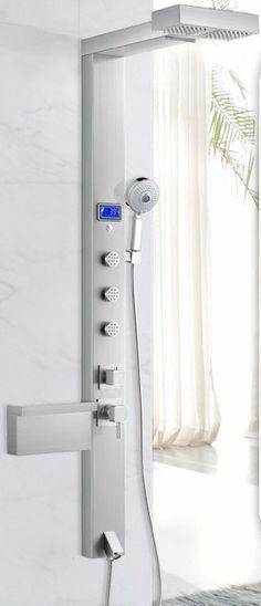 Rain Waterfall Shower Panel Tower | Bathroom Shower Panels ...