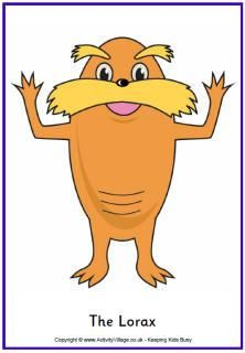 The Lorax Coloring Pages Pinterest The Lorax Dr Seuss Week