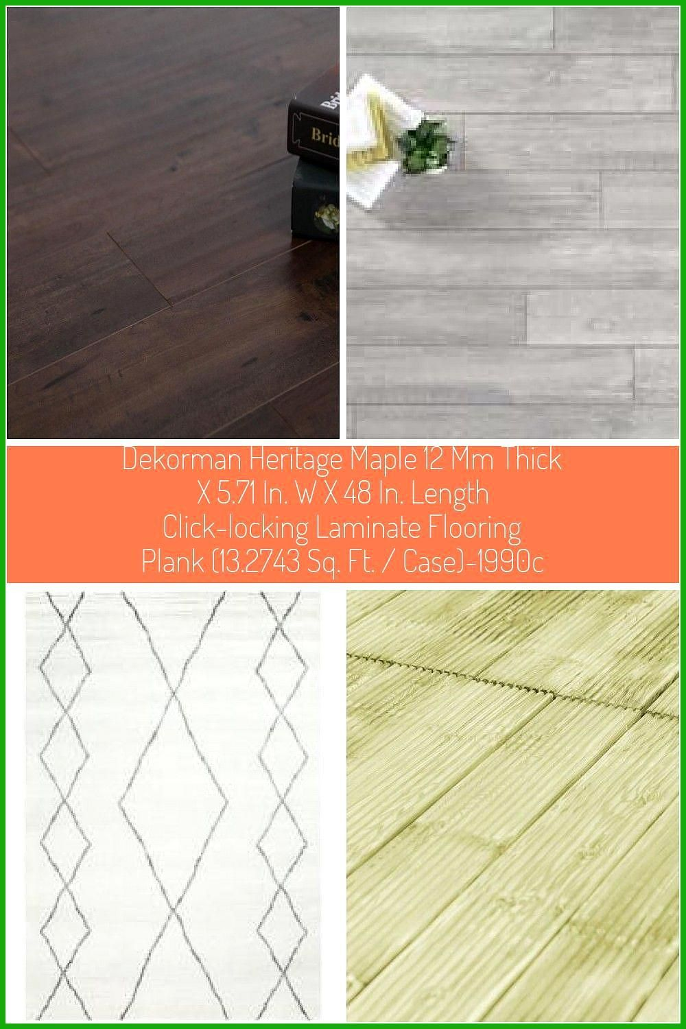 Dekorman Heritage Maple 12 Mm Thick X 5 71 In W X 48 In Length Click Locking Laminate Flooring Plank 13 2743 Sq Ft Case He In 2020 Laminate Flooring Flooring Laminate