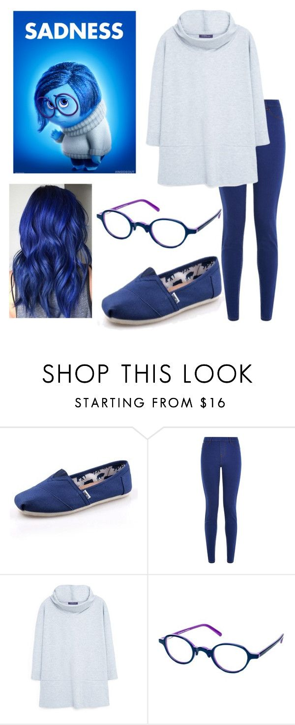 """""""Inside Out: Sadness"""" by x-sweetea-x ❤ liked on Polyvore featuring TOMS, Ultimate and Violeta by Mango"""