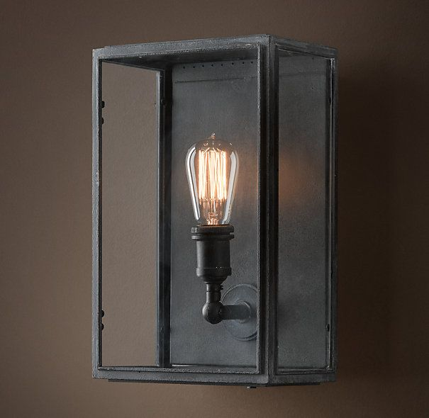 Union Filament Clear Glass Wide Sconce  Steampunk