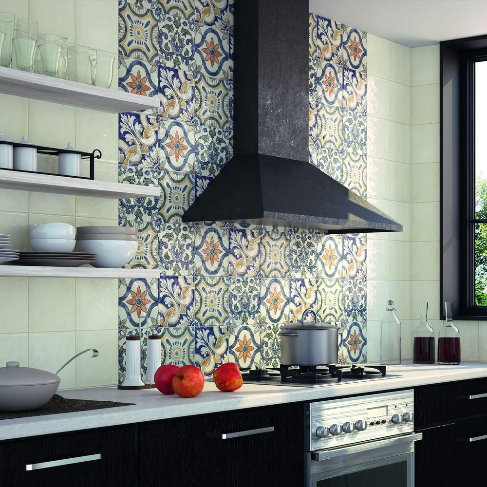 Merola Tile Bourges Arco 7-3/4 in. x 7-3/4 in. Ceramic Wall Tile (10.76 sq. ft. / case)-WAEBOUAR - The Home Depot