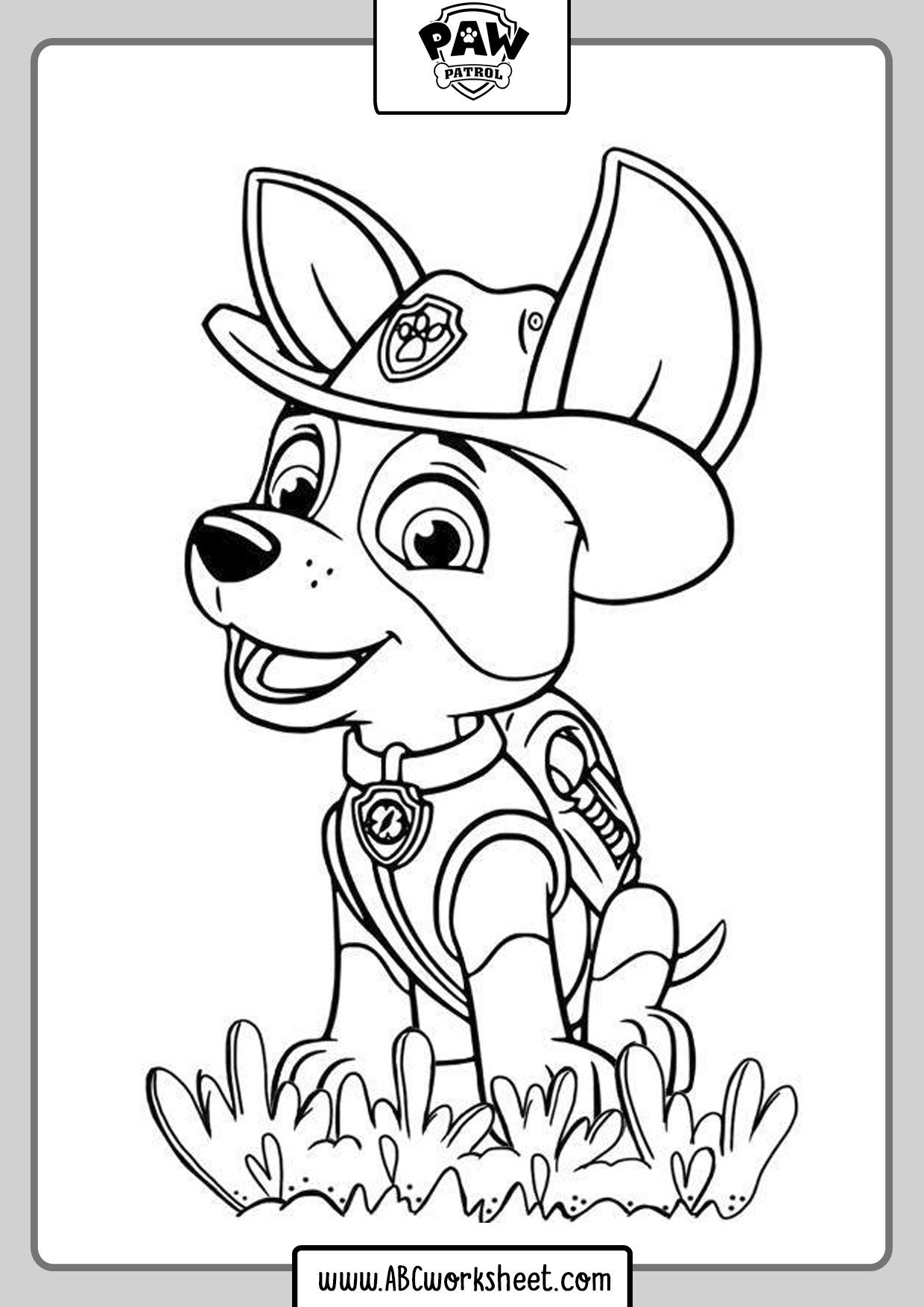 Paw Patrol Coloring Pages Abc Worksheet Paw Patrol Marshall Ausmalbilder Paw Patrol Ausmalbilder