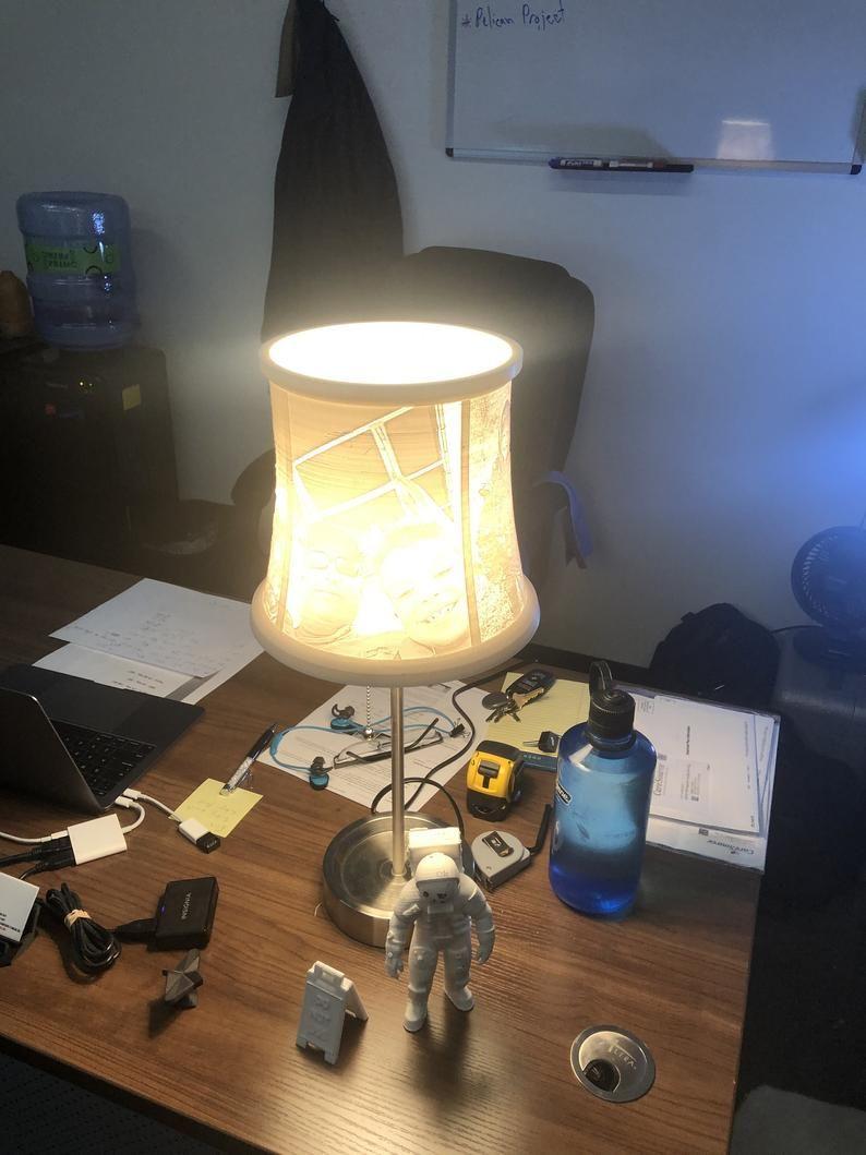 Custom Lamp With Any Photos 3d Printed Lithophane Lamp En 2020 Pantallas De Lamparas Pantalla