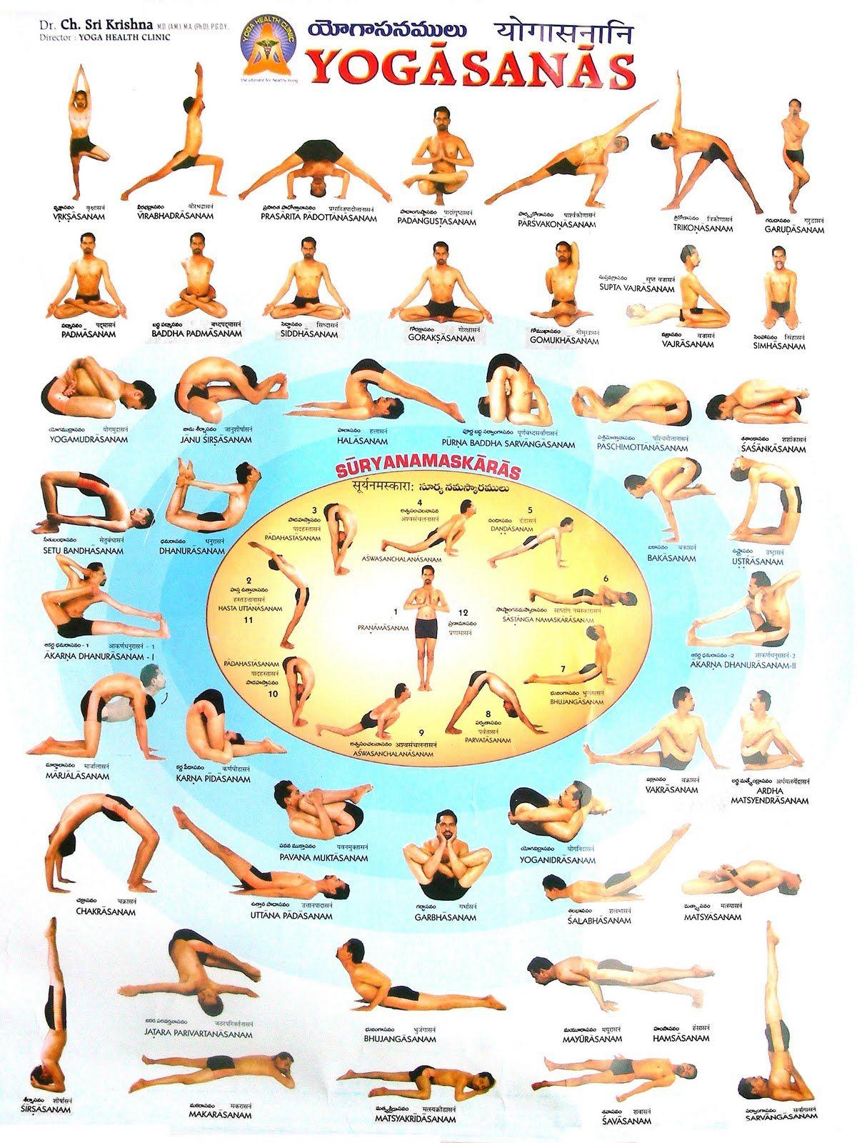 Casa de yoga manual de asanas posturas yoga pinterest yoga ejercicios y meditaci n - Ejercicios yoga en casa ...