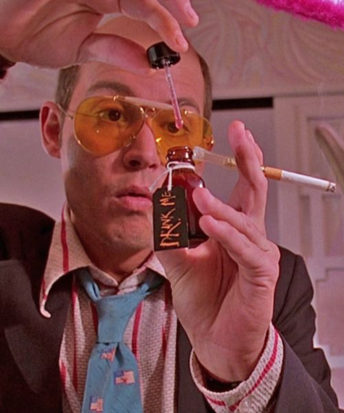 Johnny Depp as Hunter S. Thompson in the the film Fear And Loathing In Las Vegas.