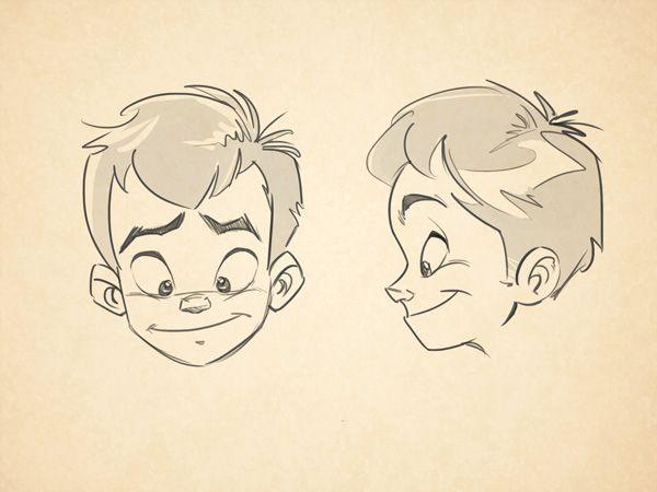 Line Drawing Cartoon Face : Cartoon fundamentals: how to draw children tuts design