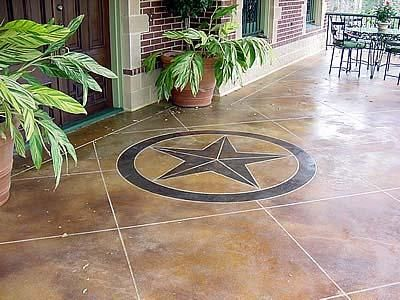 Polished Concrete With Texas Star WOW Itu0027s The Ranch Floor In The Living ...
